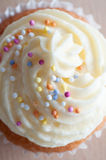 Decorated Cupcake Overhead Royalty Free Stock Images