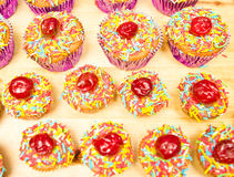 Decorated Cupcakes Stock Images