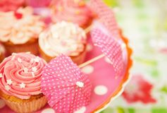 Cupcakes at a Birthday Party Stock Photo