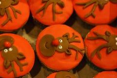 Decorated cupcakes Stock Photo