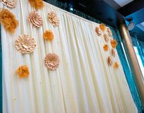 Decorated curtain Stock Photo
