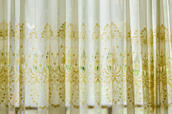 Decorated curtains royalty free stock photo