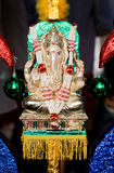 Decorated deity of thaipusam. A decorated hindu ganesh deity decorated during thaipusam Royalty Free Stock Images