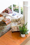 Decorated Den Guest Room in High Angle View Royalty Free Stock Image