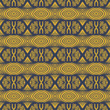 Decorated detailed stripes and floral laced motifs Royalty Free Stock Photography