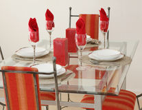 Decorated Dining Table Stock Images