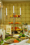 Decorated dinner table Royalty Free Stock Photos