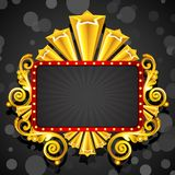 Decorated Display Board Royalty Free Stock Image