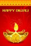 Decorated Diya. Illustration of decorated diya for happy diwali Royalty Free Stock Photos