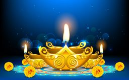 Decorated Diya Royalty Free Stock Photo