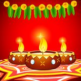 Decorated Diya Royalty Free Stock Photos