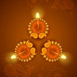Decorated Diya for Diwali Holiday Royalty Free Stock Image