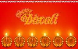 Decorated Diya for Diwali Holiday stock illustration