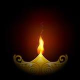 Decorated Diya for Happy Diwali royalty free illustration