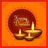 Decorated Diya for Happy Diwali festival holiday celebration of India greeting background. Vector illustration of Decorated Diya for Happy Diwali festival