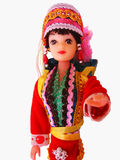 Decorated Doll. A nicely decorated doll from china, with typical Chinese attire Royalty Free Stock Image