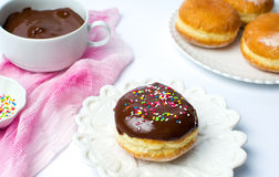 Decorated donut with donuts decoration set Stock Photography
