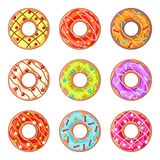 Decorated donuts Royalty Free Stock Photography