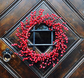 Decorated door close-up Stock Image