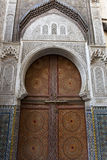 Decorated door in Fes, Morocco Royalty Free Stock Image
