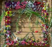 Decorated door of home Stock Image