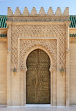 Decorated door of mausoleum of Mohammed V in Rabat, Morocco Royalty Free Stock Images