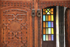 Decorated door in the medina of Marrakesh, Morocco Royalty Free Stock Photos