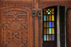Decorated door in the medina of Marrakesh, Morocco Stock Photography