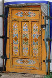 Decorated door of a Mongolian Yurt Royalty Free Stock Photo