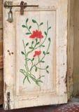 Decorated door panel Stock Image