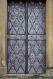 Decorated door in Prague stock image