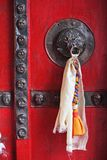 Decorated door with tassel Royalty Free Stock Photography