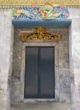Decorated door in Wat Phra Kaew, Bangkok, Thailand Stock Images