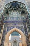 Decorated doorway. Tile decorated door to the tomb of tamurlane in samarkand, uzbekistan stock photos