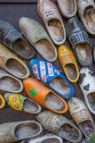 Decorated dutch wooden shoes Stock Image