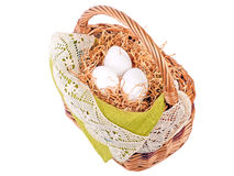 Decorated Easter basket Royalty Free Stock Photos
