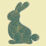Decorated Easter bunny silhouette Royalty Free Stock Images