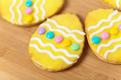 Decorated Easter Cookies Stock Photos
