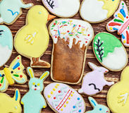 Decorated Easter cookies Stock Photo
