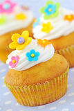 Decorated Easter cupcakes Stock Photography