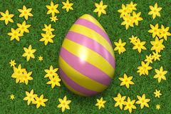 Decorated Easter egg. Royalty Free Stock Photo
