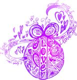 Decorated Love Easter egg vector Stock Images