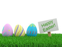 Decorated easter eggs Stock Image
