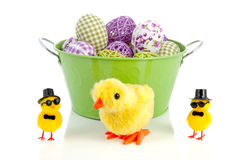 Decorated easter eggs Royalty Free Stock Images