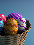 Decorated Easter Eggs Stock Photos