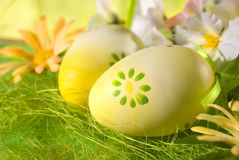 Decorated Easter Eggs Stock Photography