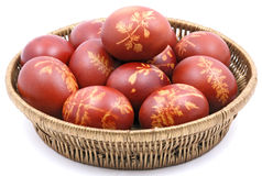 Eggs in easter basket. Stock Images