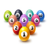 Decorated Easter eggs collection Royalty Free Stock Photo