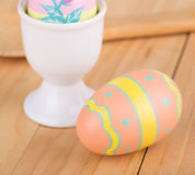 Decorated Easter Eggs and Cup Royalty Free Stock Images