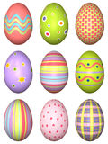 Decorated Easter eggs Royalty Free Stock Photography